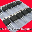 10pcs - LM7805 1Amp POSITIVE REGULATOR LM 7805