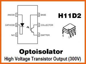 10pcs- OPTOISOLATOR MOTOROLA H11D2 (H11D1 optocoupler