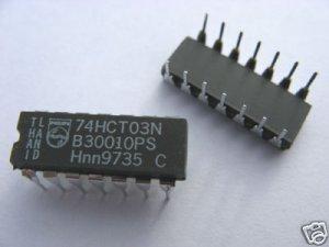 10pcs - 74HCT03N (74HCT03 74HC03) Quad 2-input NAND