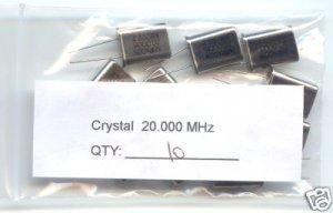 10pcs - 20MHz CRYSTALS (20.00MHz 20 MHZ) - Bargain!