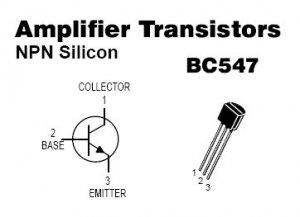 50pcs - BC547 NPN Transistors ( BC547B BC 547 B )