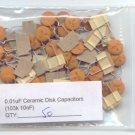 50pcs - 0.01uF Ceramic Disk Capacitors ( 103K - 10nF )
