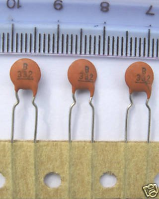 100pcs - 3.3nF 63V Ceramic Capacitors (3n3 0.0033uF)