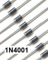 100 X 1N4001 Rectifier Diode (IN4001 1N 4001) 1N4001RL