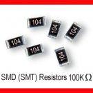 50pcs - 100K Ohm SMD Resistor 0805 1/8W 5% (100 K SMT)
