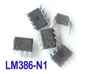 5pcs - LM386 N1 1W Low Voltage Audio Power Amp. DIP-8