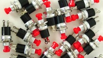 5pcs - MINI PUSH BUTTON OFF/ON MOMENTARY SWITCH RED NEW