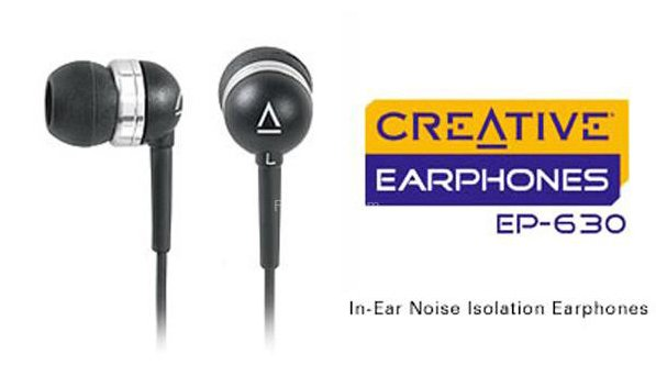 Stereo Earphones In-Ear, noise canceling For iPhone, MP3/MP4/CD - CREATIVE