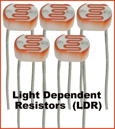 5pcs - Light Dependent Resistors LDR photo detectors