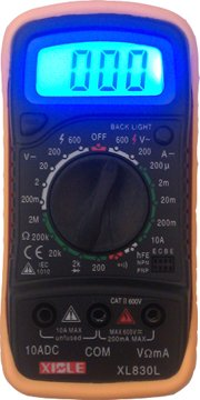 Digital LCD Multimeter Voltmeter Ohmmeter Ammeter -NEW