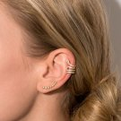 14KT GOLD SNAKE SHAPE FASHION JEWELRY EAR CUFFS WITH SIGNITY CZ - FREE SHIP