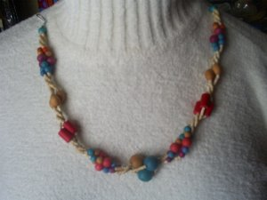 """Wooden Fashion Bead Necklace, 16"""""""