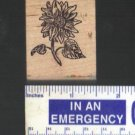 """Sunflower"" Rubber Stamp Mounted on Wood"