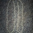 "Set of Two Imitation Pearl Necklaces, 15"" Each"