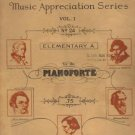 Carl Richter, Music Appreciation Series, Vol. I, MCMXXXIV