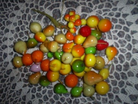 Assortment of Vintage Miniature Fruits for Crafting