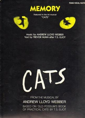 """CATS"". Memory, Sheet Music from the Musical,  1983"