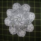 "Small Hand Crochet Doily, White,  4""  Vintage"