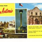 Vintage Postcard, Greetings from San Antonio, 1986.  Very Good Condition