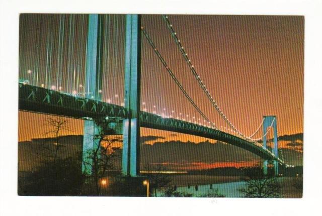 New Vintage Postcard, The Verranzana, Narrows Bridge,  Very Good Condition