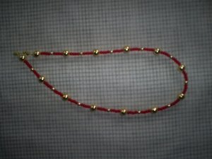 """Handcrafted Bead Necklace, 16"""" (New)"""