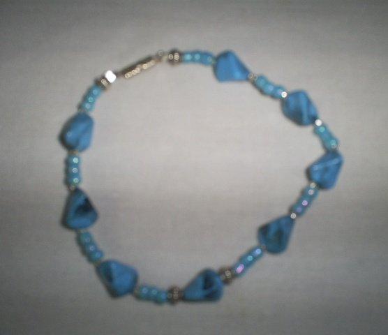 """Handcrafted  Beaded  Bracelet Made with Vintage Beads, 8""""   New"""