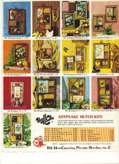 Creating Picture Hutches, No 2, Vintage 1973