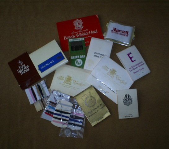 Great Collection of Travel Sewing Kits from Motels & Hotels, Vintage