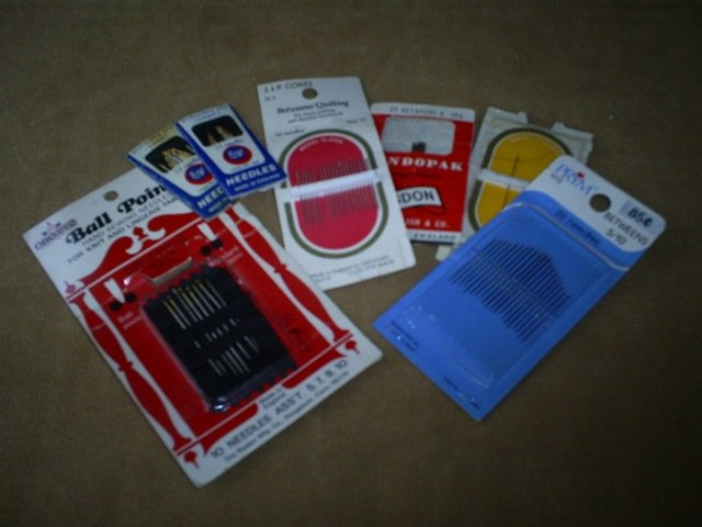 Large assortment of sewing needles