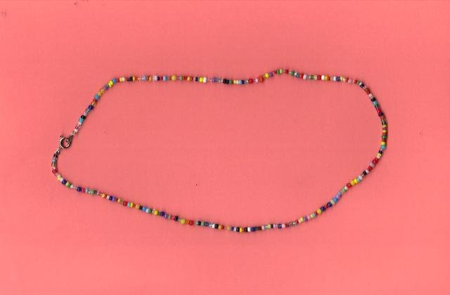 "Handcrafted Bead Necklace, 18"" (New)"