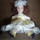 "Porcelain Princess Doll, 5"" Jointed, Very Good Condition"