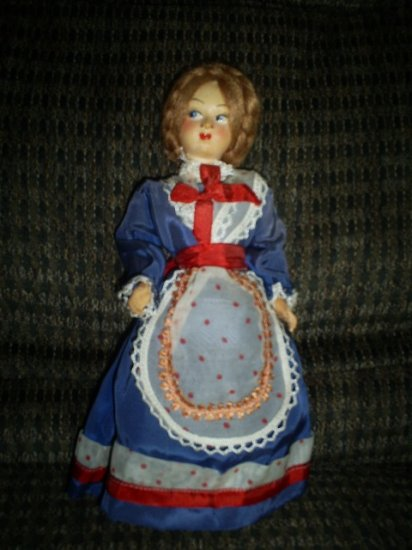 """Vintage Doll Made in Italy, 9"""" tall"""