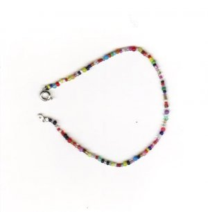 "Handcrafted Beaded  Ankle Bracelet, 11""   New"