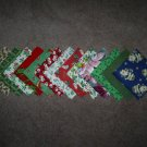 "26- 4"" Assortment of Holiday Cotton Quilting Squares"