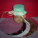 Set of Eight Canning Jar Covers/labels & Raffia Ties, New and Handcrafted