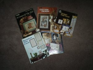 A Collection of 5 Cross Stitch Books, Very Good Condition