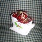 Christmas Sleigh and Vintage  Glass Christmas Ornament