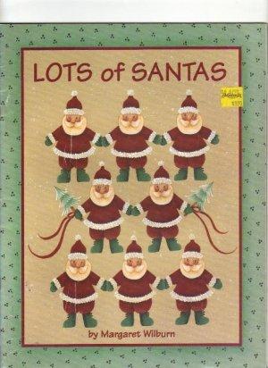 Lots of Santas, by Margaret Wilburn,  Acrylic Painting  1992