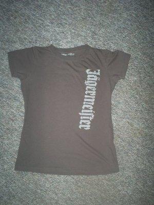 Jagermeister Tee Shirt Medium in Khaki, Very Good Condition
