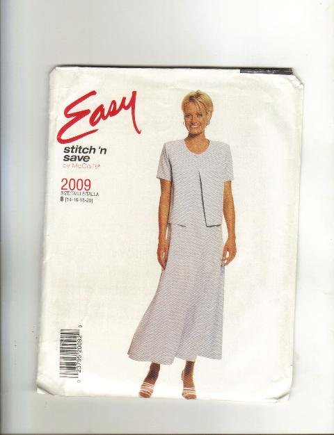 Easy Pattern #2009, Size 14-16-18-20 Tall