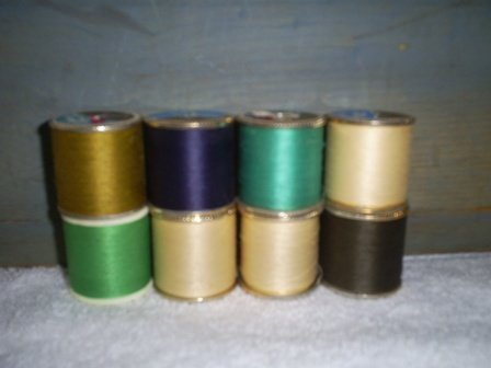 Eight Spools Dual Duty, Polyester Thread, Assorted Colors, T-27