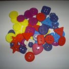 Plastic Craft Buttons, Assorted Sizes, Assorted Colors
