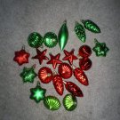 Christmas Ornaments Large Assortment Red and Green