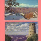 Grand Canyon National Park, Vintage Scallop Edge Postcards, Very Good Condition