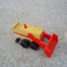 Epoch Co. Vintage Wood Toy Bulldozer, Construction Toy 1973