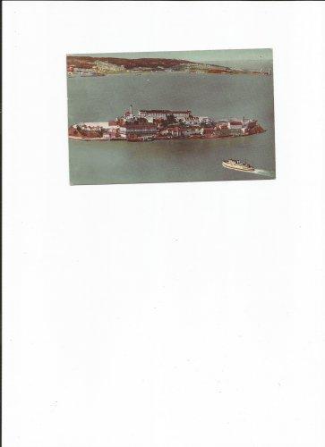 Vintage Postcard, Alcatraz Island, San Francisco Bay, Good Condition