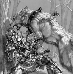 White Werewolf Spirit Haunted Supremacy 925 SS Pendant
