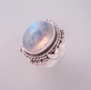 Sacred Tear Moonstone Unicorn Haunted Ring 925 Sterling Silver sz 6.25