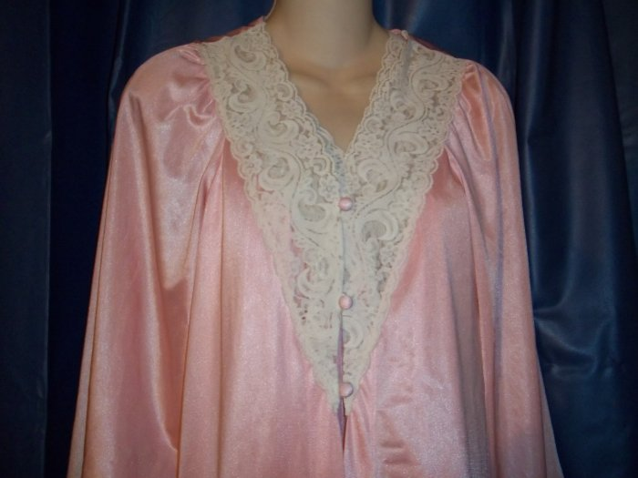 Vintage Peignoir Set - Pink Size Medium
