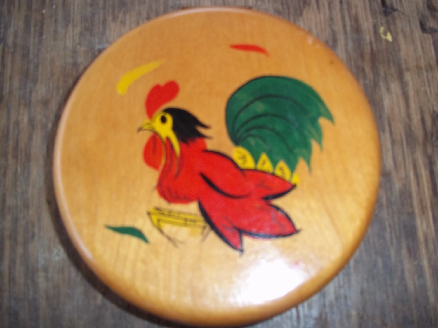 VINTAGE WOODEN ROOSTER BURGER PATTIE MAKER - PERFECT!
